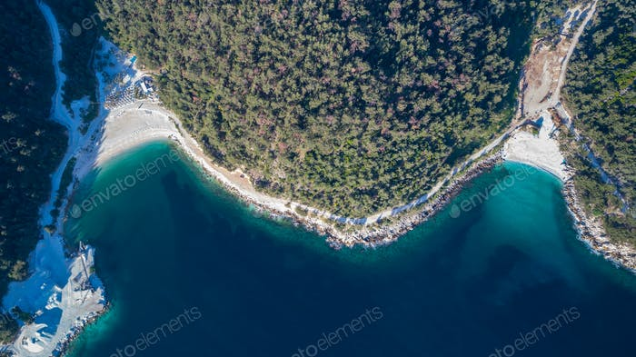 Porto Vathy and Marble beach, Thassos, Griechenland