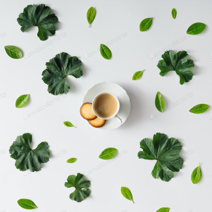 Creative natural morning coffee.