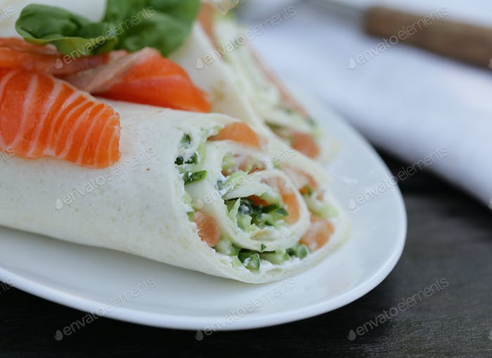 Tortilla with a Red Fish