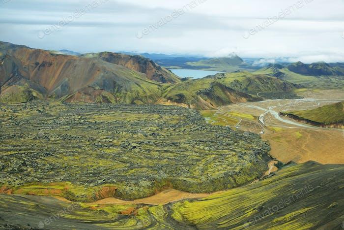 Bunte Berge am Landmannalaugar,