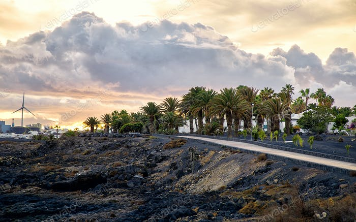 Sunset in Lanzarote, Canary Islands, Spain