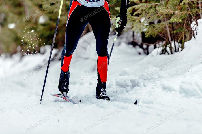 skier athlete classic style