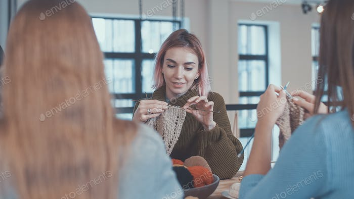 Knitting teacher