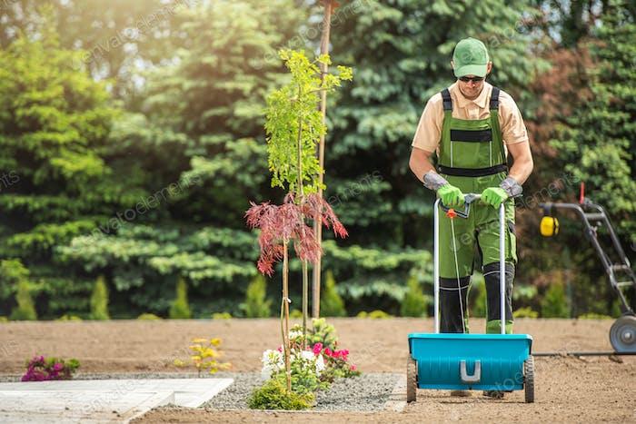 Backyard Garden Grass Seeding