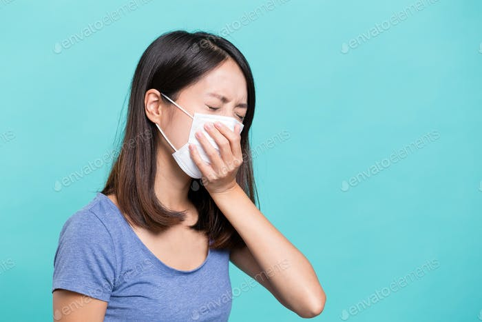 Woman suffer from sick