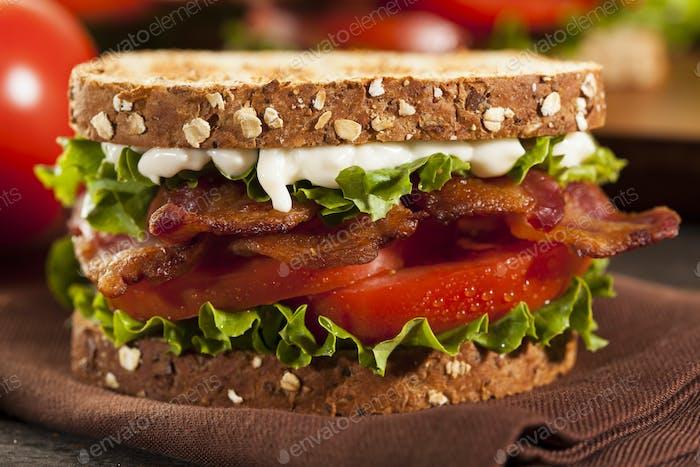 Fresh Homemade BLT Sandwich