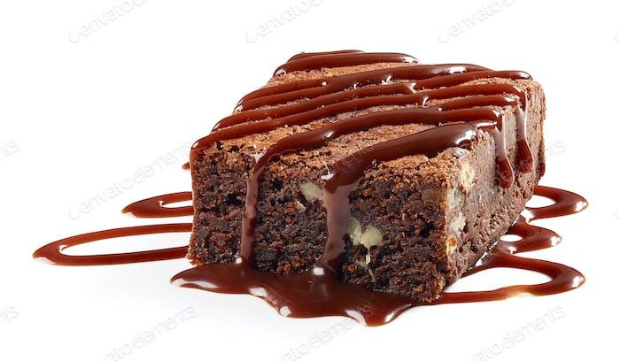 Stück Schokolade Brownie Kuchen