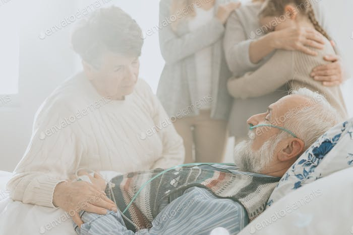 Senior man passing