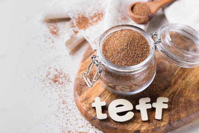 Altes Getreide teff beliebt in der eritreischen und äthiopischen Küche