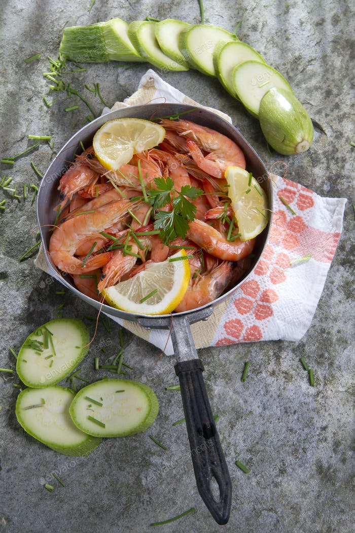 Thumbnail for Presentation Of Raw Shrimp