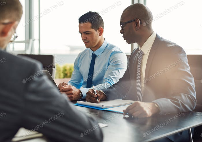 Business executives in a management meeting