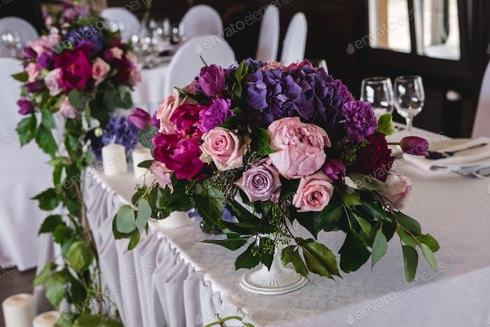 Wedding Banquet. Honeymoon table