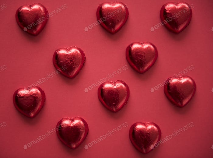 Heart Shaped Chocolate Sweet Pattern