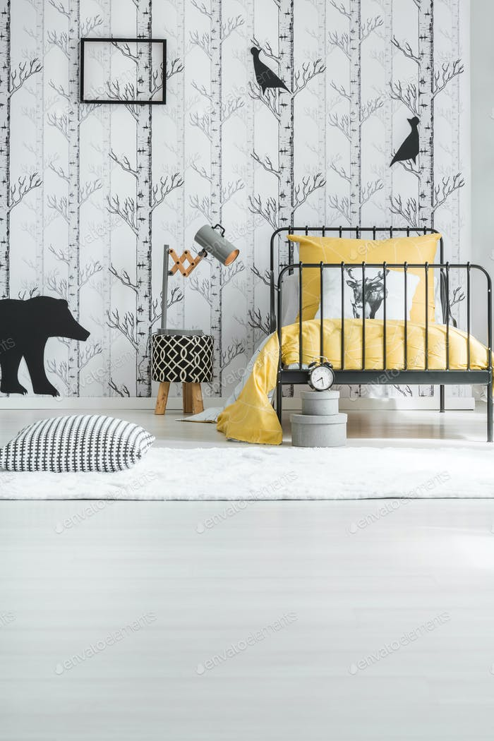 Creative white child's bedroom