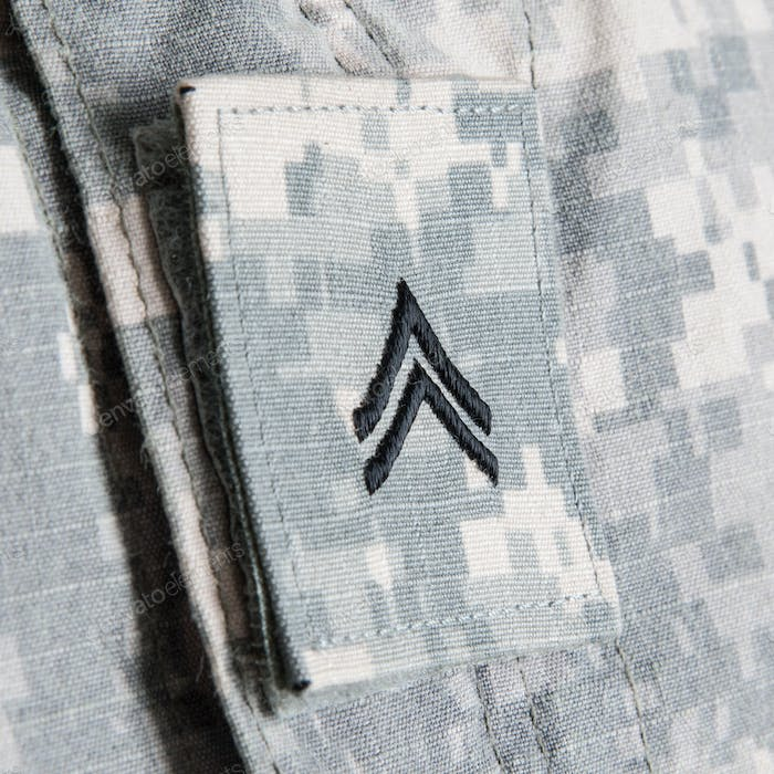 US army corporal rank embroidered insignia patch