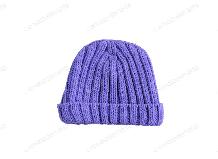 blue woolen winter hat
