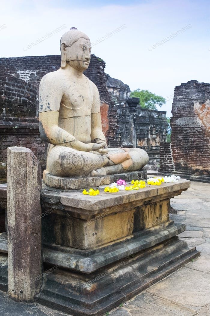 Seated Buddha at Pollanaruwa