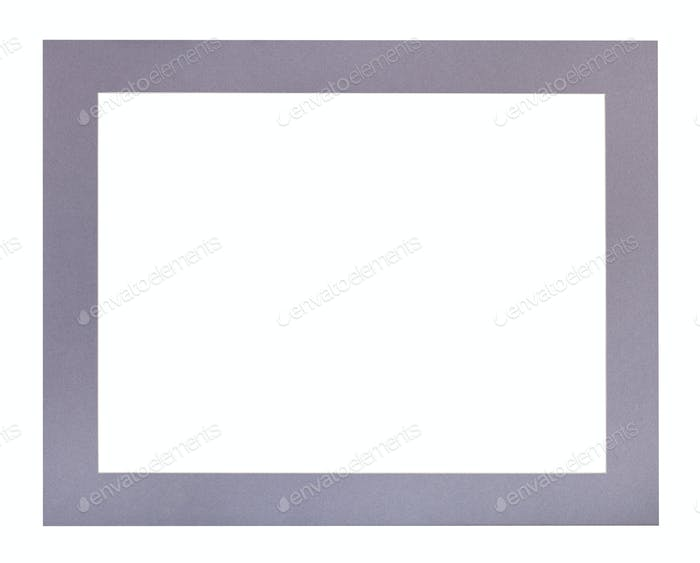 wide flat violet passe-partout for picture frame