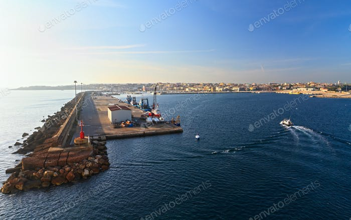 harbor in Porto Torres