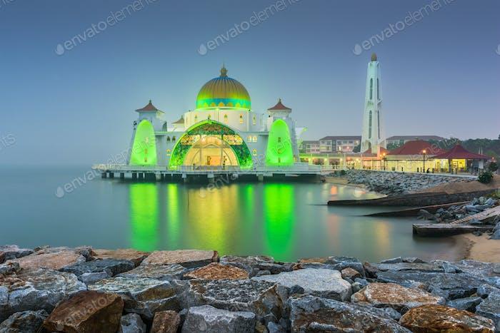 Malacca Straits Mosque in Malacca, Malaysia