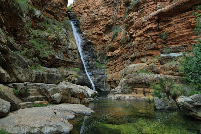 Waterfall in Meiringspoort Pass