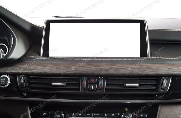 Monitor in car with blank screen