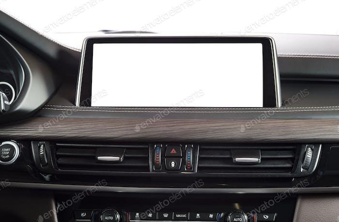 Monitor im Auto mit leerem Bildschirm