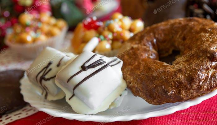 traditional cookies of Neapolitan food