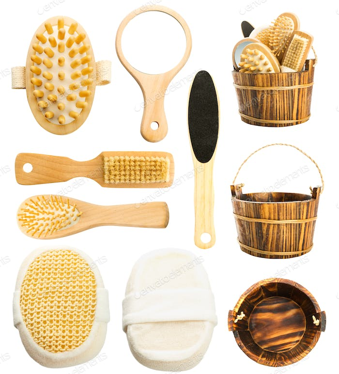 Set of bath accessories