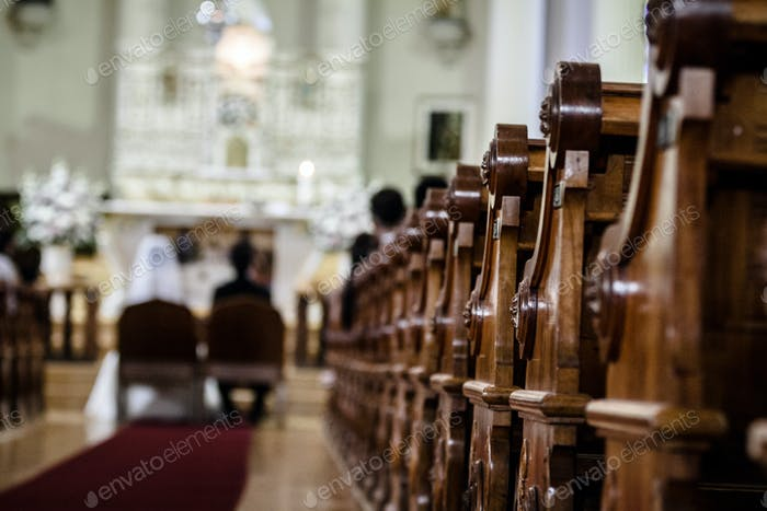 Wedding Ceremony inside a Church