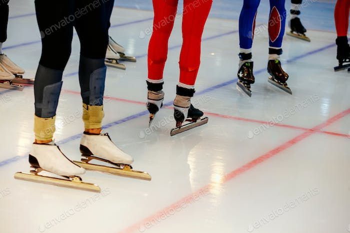 legs men athletes speed skaters