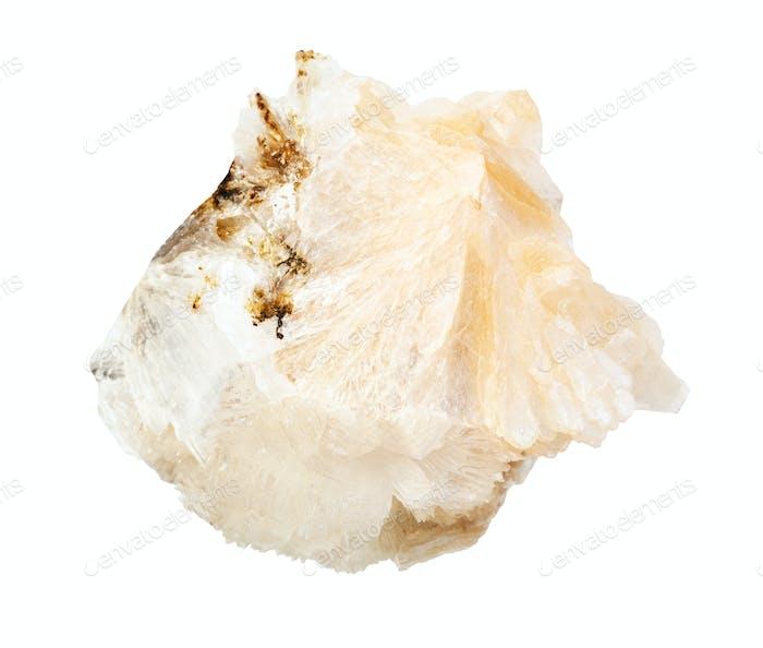 ungeschliffenes Thomsonitgestein isoliert auf weiß