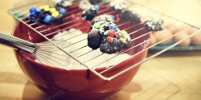 Cookies Zutaten Rezept Restaurant Gebäck Konzept