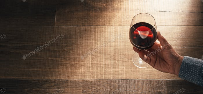 Sommelier tasting excellent red wine