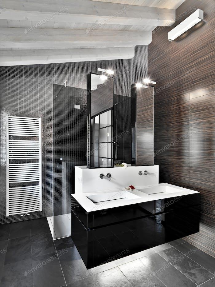 Interiors of the Modern Bathroom Bedroom
