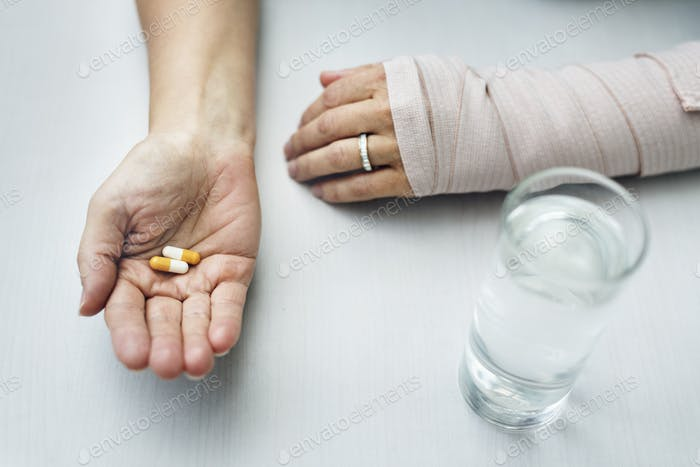 Medical Patient Drug Care Concept