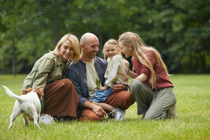 Joyful Family in Park