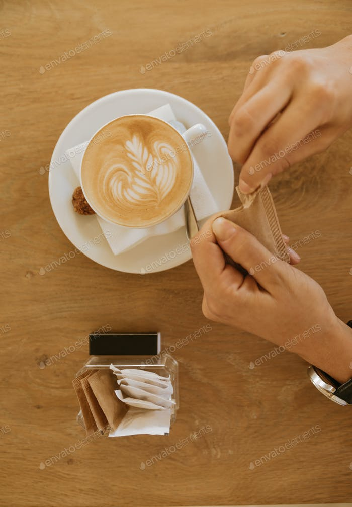 Coffee On A Wooden Background