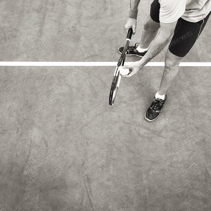 Tennis Sport Schläger Schläger Athlet Match Concept