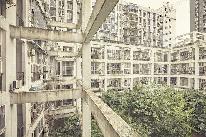 Old residential building in Chongqing, China
