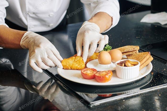 Delicious dish prepared by chef