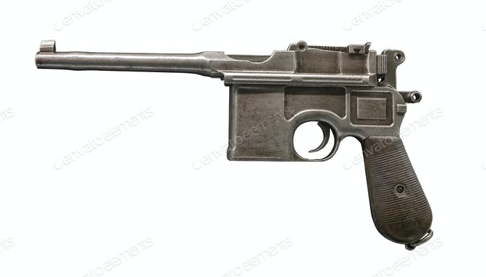 Mauser isolated on white