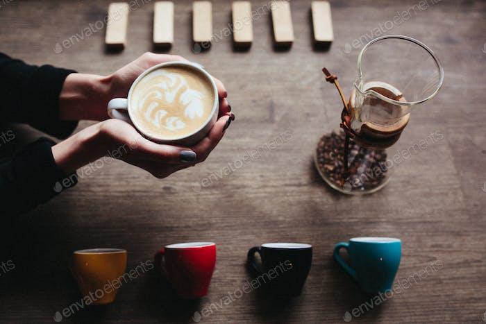 schönes Bild von einem latte