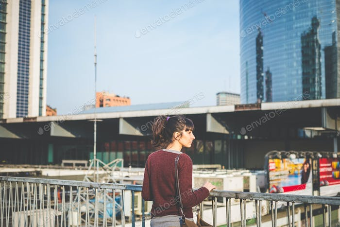 young beautiful hipster woman
