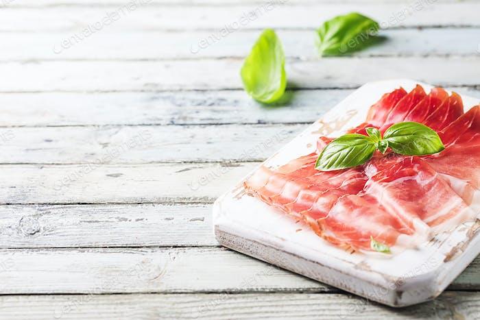 Italian prosciutto crudo