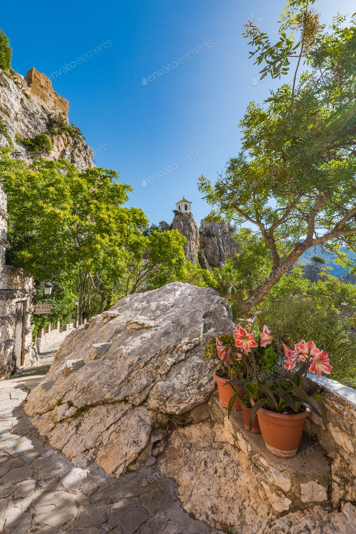 Guadalest castle in Alicante,Spain