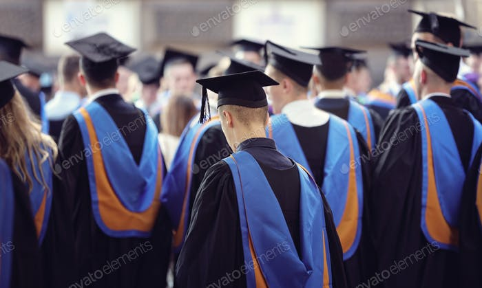University graduates at graduation  ceremony