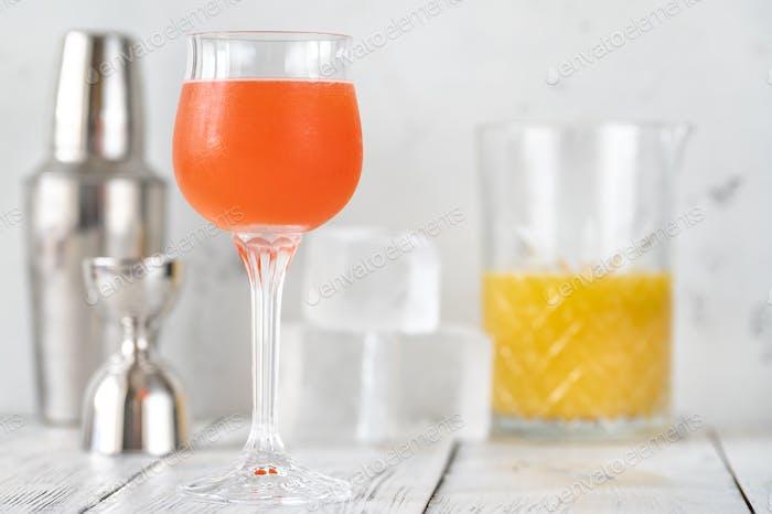 Glass of Monkey Gland cocktail