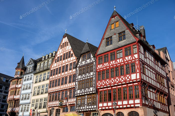 Traditional half-timbered houses