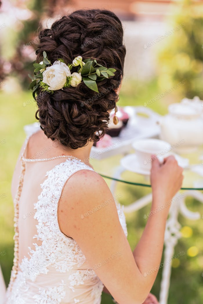 wedding hair bridesmaid